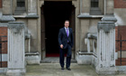 David Cameron leaving Leveson inquiry