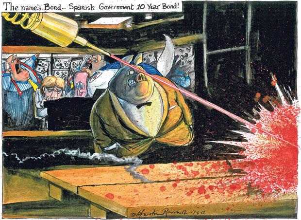 Martin Rowson cartoon, 09.06.2012