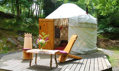 Yurt at Graig Wen in Wales