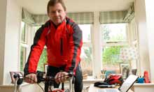 Richard Pidgeon using Microsoft Office to help with his cycling training