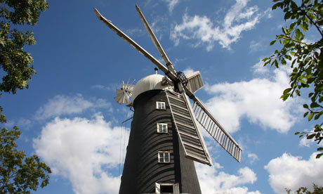 Working five sail windmill at Alford, Lincolnshire