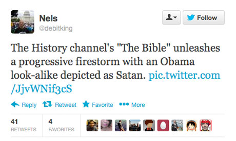 Tweet about the History Channel