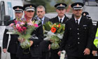 Greater Manchester police at scene of officers' killing