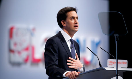 Ed Milliband at Labour party conference Liverpool 2011