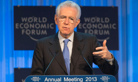 Moario Monti in Davos at World Economic Forum