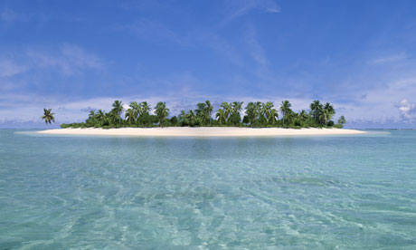 Tropical Island, Aitutaki Atoll, Cook Islands