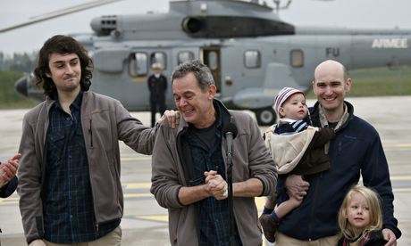 Kidnapped French journalists: 'we were chained together in underground cells'