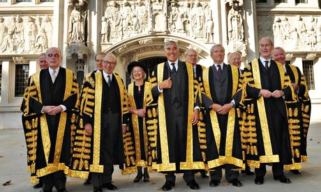 Lady Hale, who is the only woman sitting on the supreme court, said positive discrimination may be needed in judiciary selection. Photograph: Fiona Hanson/PA