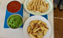 Recipe swap: minty mushy peas with fish fingers and chips, sent in by leftoverliz