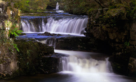Waterfalls on the river Neath, Wales