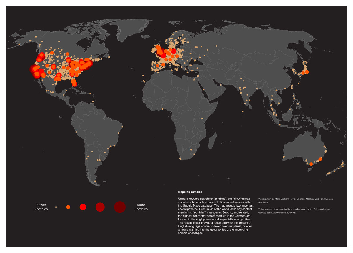 Mapped: the the world in Zombies