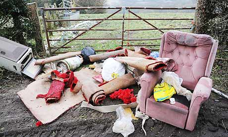 Fly-tipping in Sussex