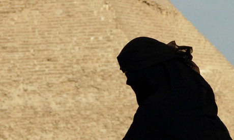 Woman wearing the niqab in Egypt
