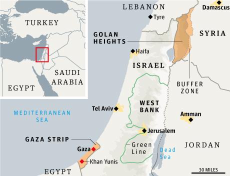 Israel borders WEB