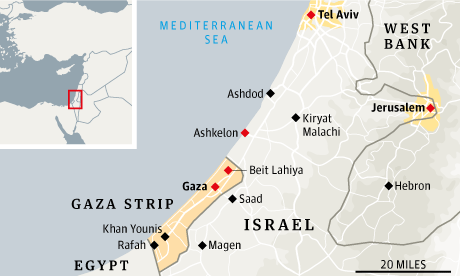 Israel Gaza map for web