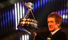Bradley Wiggins with his BBC Sports Personality of the Year award