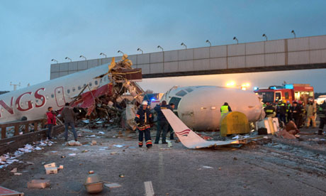 Moscow plane crash video
