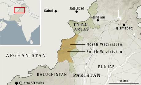 Pakistan drones map
