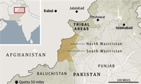 Pakistan drones map