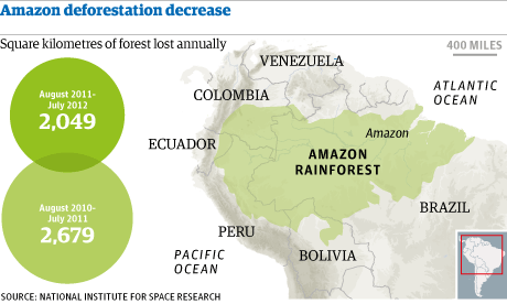 Amazon deforestation decrease