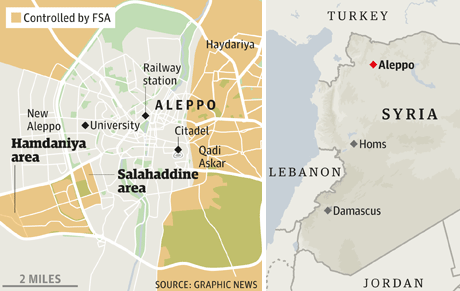 Syria Troops Claim Significant Advances In Aleppo Wars In The World - Aleppo map