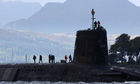 Nuclear submarine carrying Trident missiles