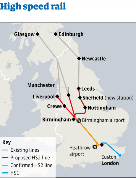 Northern Cities await High Speed Rail Route and Stations Share The