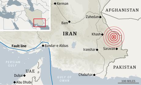 Iran Quake location