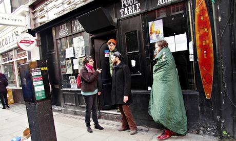'Bohemians 4 Soho' occupy 12 Bar Club on Denmark Street - London