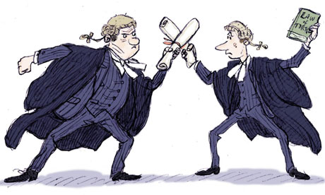 Cartoon by Alex Williams of Two Barristers