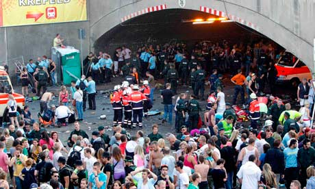 Love Parade in Duisburg where mass stampede caused fatalities