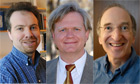 Nobel prize winning professors Adam Riess, Brian P. Schmidt and Saul Perlmutter