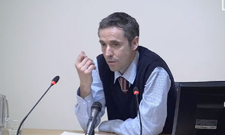 Paul McMullan, former News of the World deputy features editor gives evidence at the Leveson inquiry