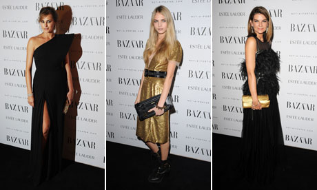 Yasmin Le Bon, Cara Delevigne and Natalie Massenet at Harper's Bazaar Women of the Year Awards 2011