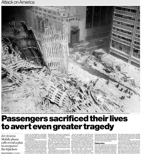 September 11 2001 Newspaper