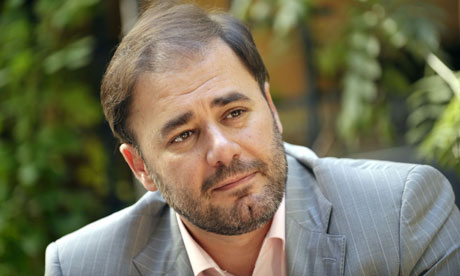 Wadah Khanfar, director general of the Al Jazeera network, who has resigned