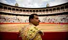 A picador looks on before a bullfight at the Monumental bullring in Barcelona, Spain.