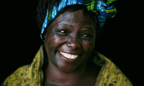 Wangari Maathai, Nobel Peace Laureate at the Hay festival in 2007