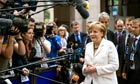 Angela Merkel, Germany's chancellor, arrives at the European Leaders summit in Brussels, Belgium