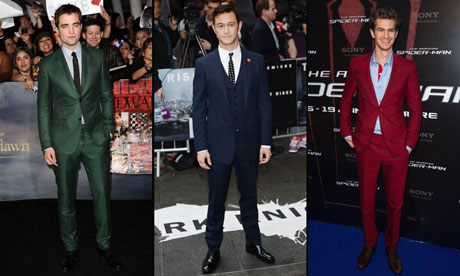 Robert Pattinson, Joseph Gordon-Levitt and Andrew Garfield in evening wear