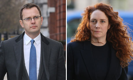 Andy Coulson and Rebekah Brooks arrive at Westminster Magistrates Court,