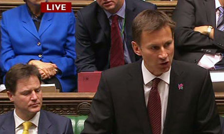 Jeremy Hunt makes a Leveson Inquiry statement to the House