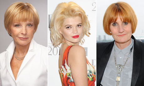 Left to right: Anne Robinson, Pixie Geldof and Mary Portas
