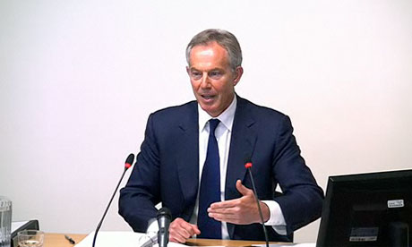 Tony Blair gives evidence at the Leveson Inquiry
