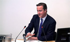David Cameron gives evidence at the Leveson Inquiry at the High Court