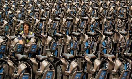 A fleet of 'Boris bikes' which are to be used in London's cycle hire scheme