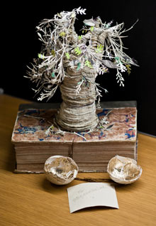 Poetree from Gifted: the Edinburgh Book Sculptures on Tour 2012