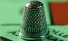 Monopoly thimble board marker