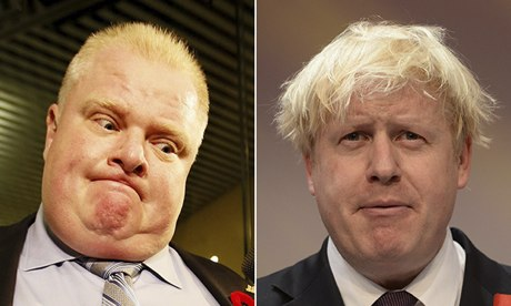 Rob Ford and Boris Johnson