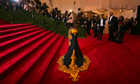 Beyoncé arrives on the red carpet at the Metropolitan Museum of Art gala